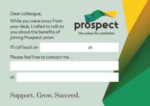Prospect calling card