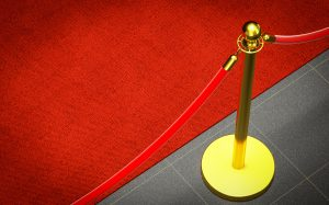 detail of red carpet for BAFTA story
