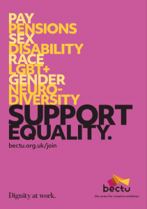 Bectu equality poster A4