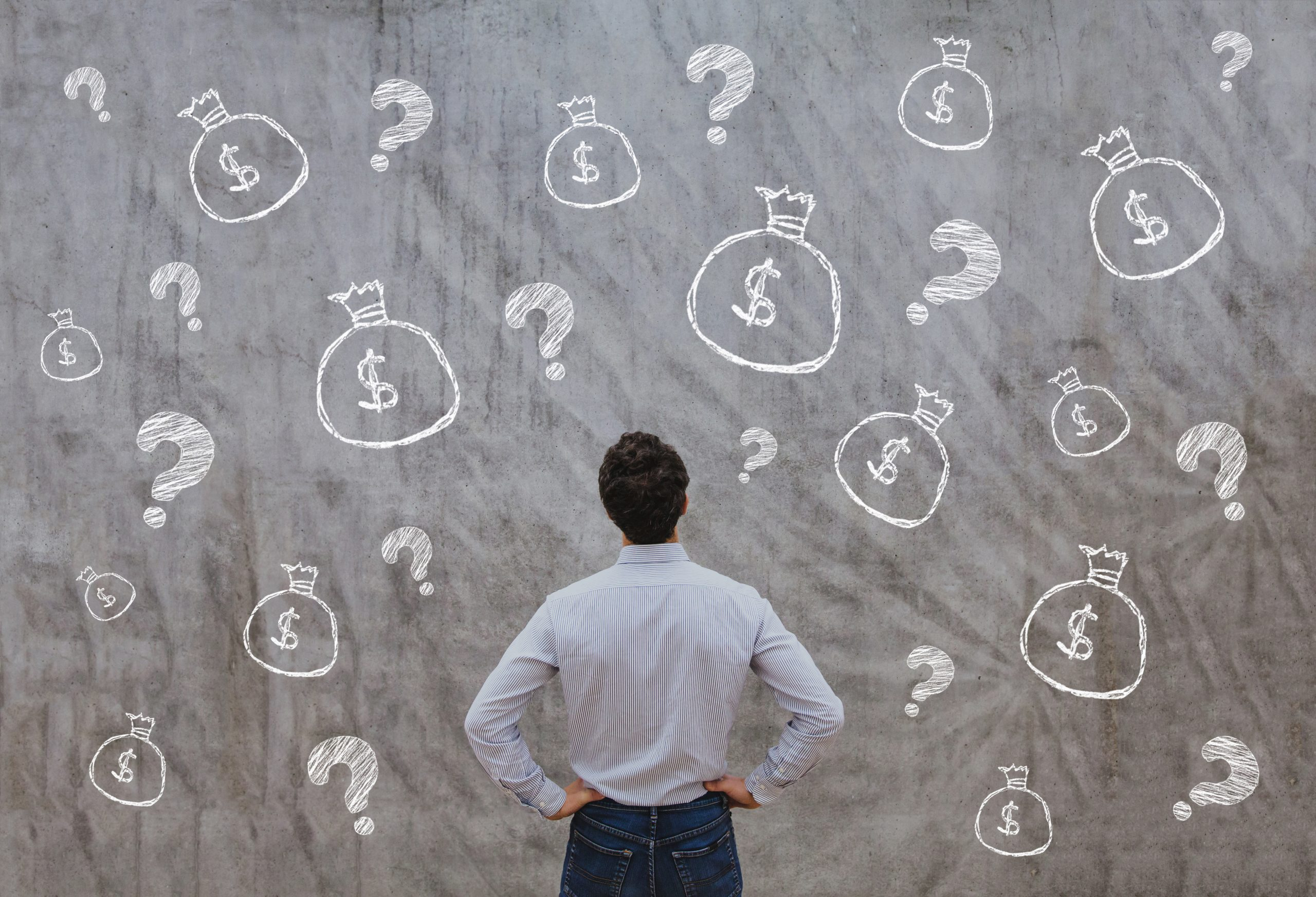 Man thinking about money