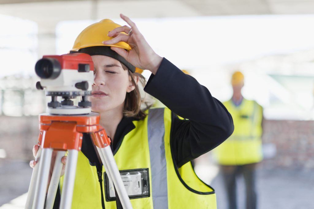 Woman wearing ill fitting PPE