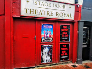 Stage door at the Theatre Royal in Brighton