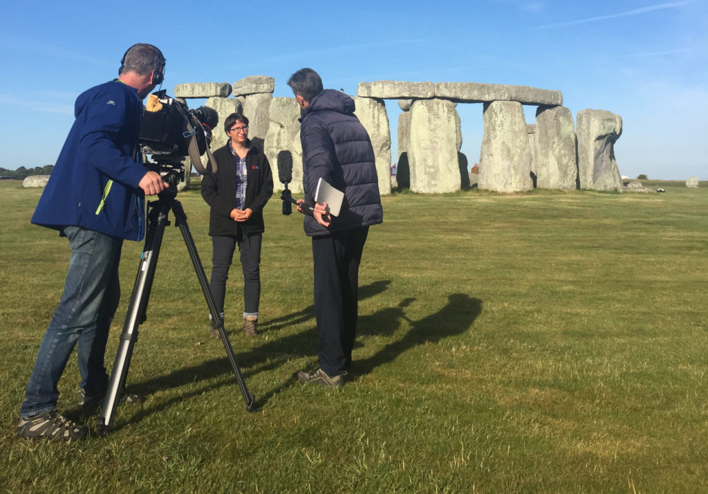 Susan Greaney at Stonehenge