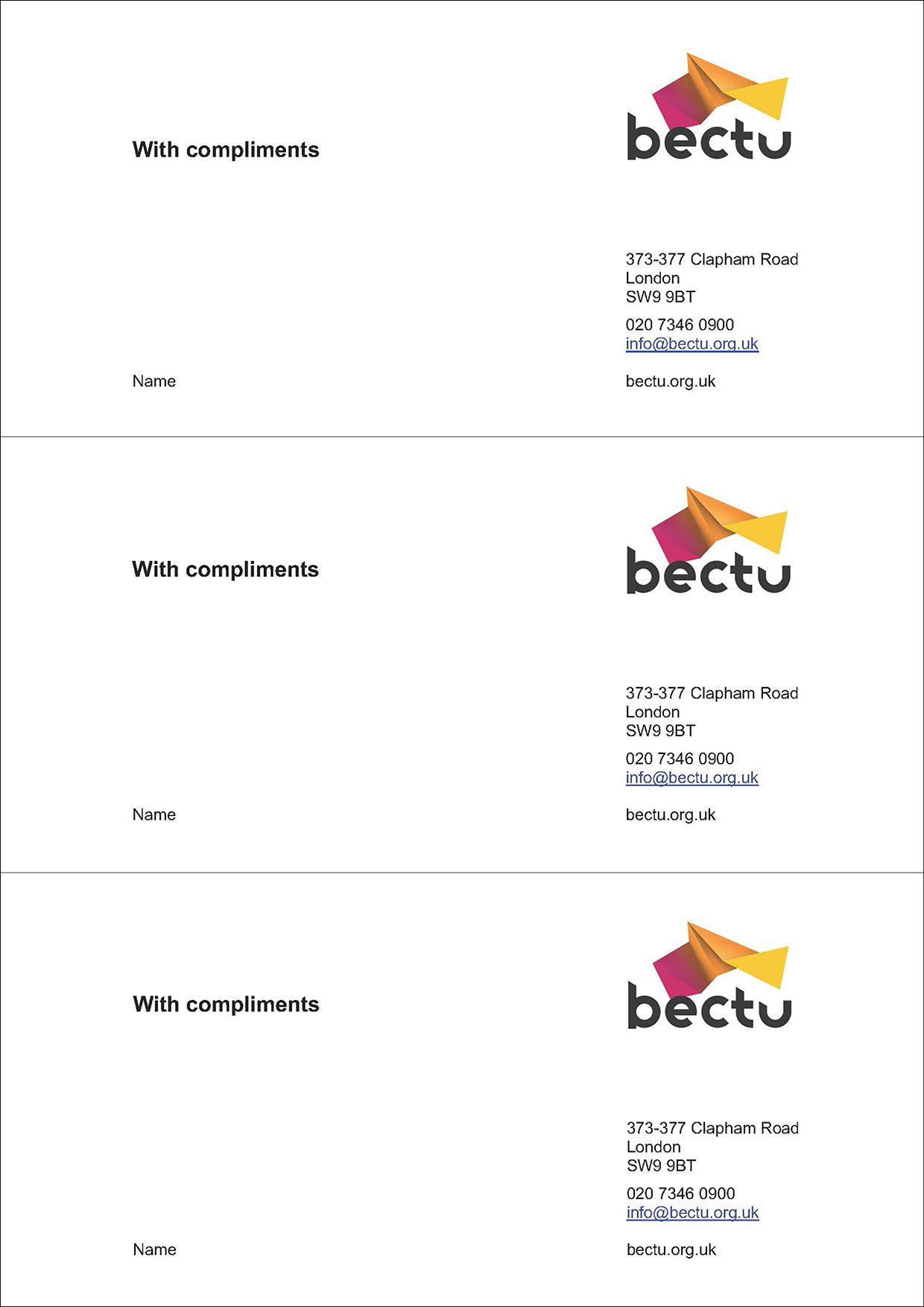 Bectu comp slip