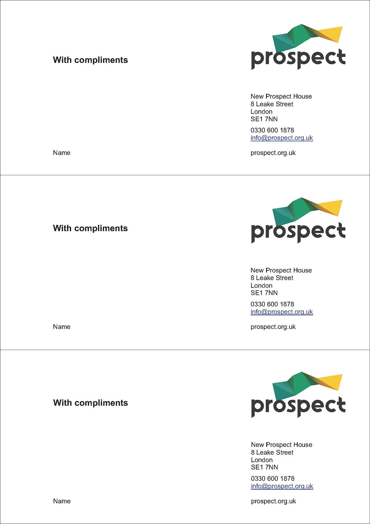 Prospect comp slip