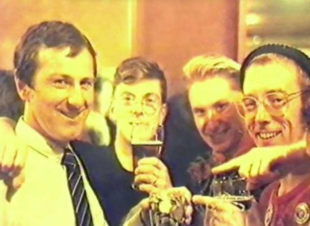 Dai Donovan with members of LGSM in 1984