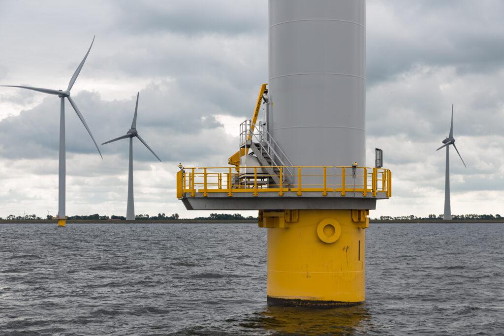 Bottom of wind turbine